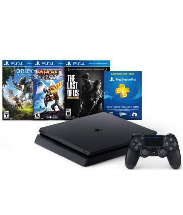 CONSOLA PLAY STATION 4+3JUEGOS HZD-RYC T