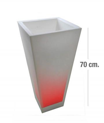 MACETA PIRAMIDAL 70CM RGB